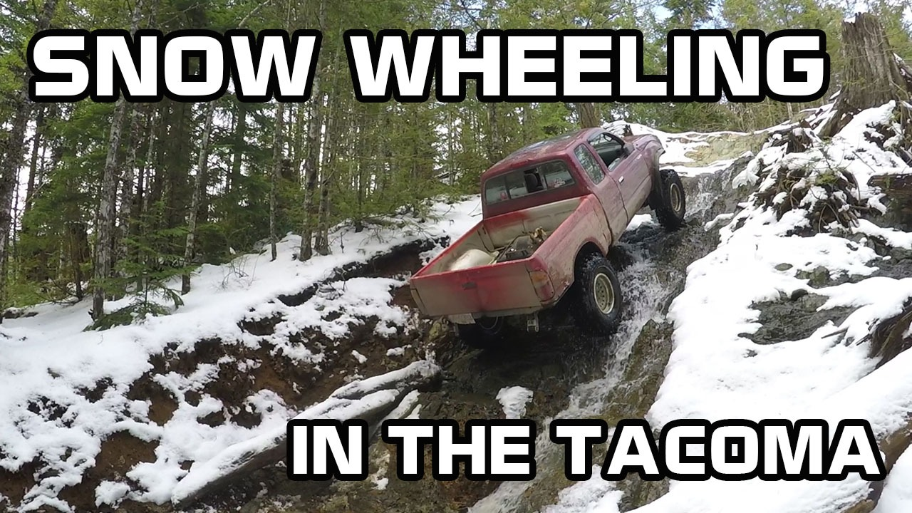 Snow Wheelin in the Tacoma